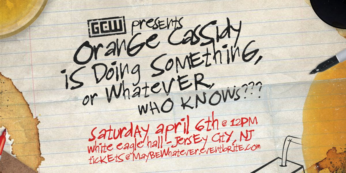 GCW Orange Cassidy Is Doing Something Or Whatever, Who Knows