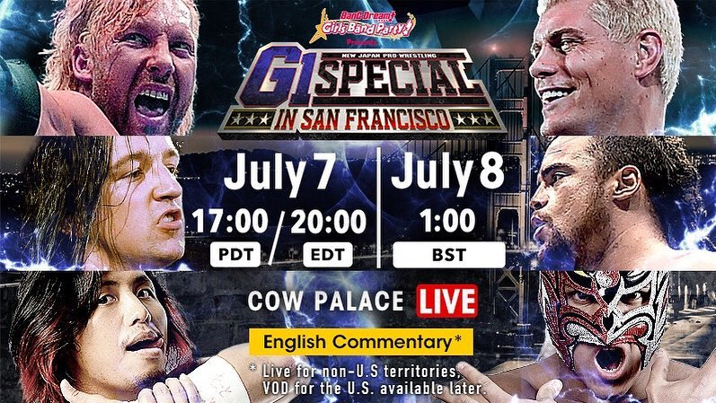 NJPW G1 Special in San Francisco