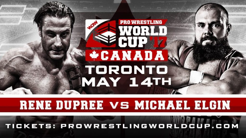 WCPW Pro Wrestling World Cup Canadian Qualifying Bracket
